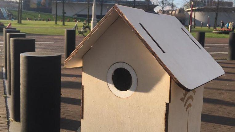 Zo moet het wifivogelhuisje eruit zien. Beeld TreeWIFI