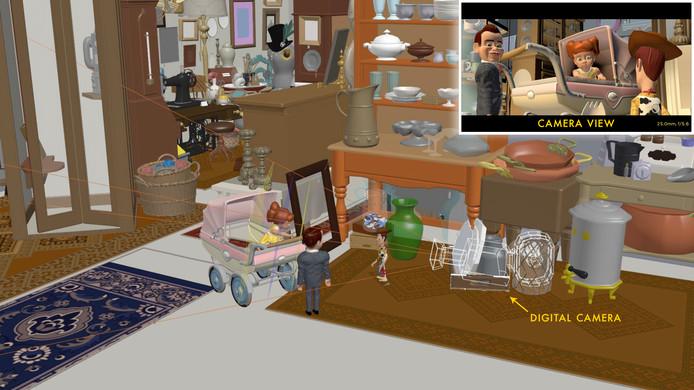 Pour filmer les personnages dans le magasin d'antiquités, il a fallu faire attention à tout: à la façon dont les personnages se reflètent dans chaque objet et à leur façon de se mouvoir.