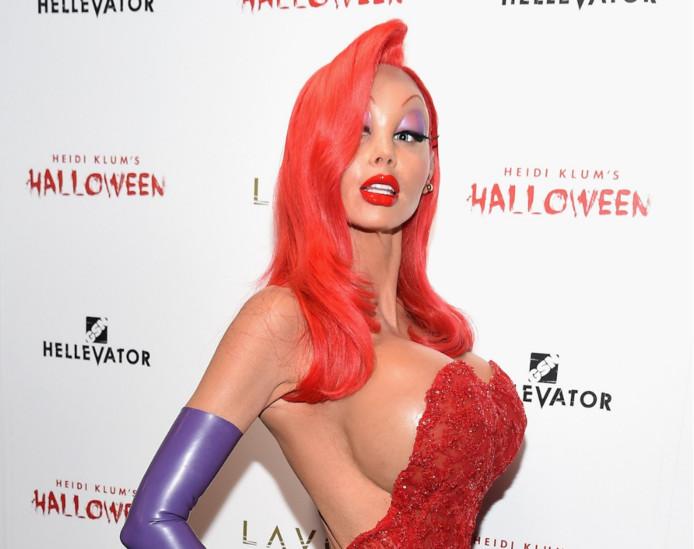 De outfit van een onherkenbare Heidi Klum in 2015.