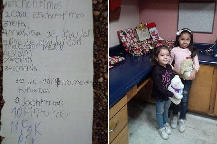 Dayami (R) en haar 4-jarig zusje Ximena waren dolenthousiast.