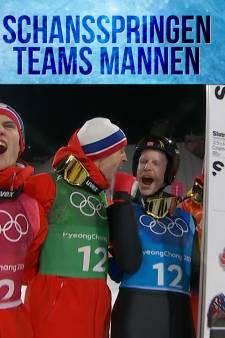 Noorse mannen pakken goud op de schans
