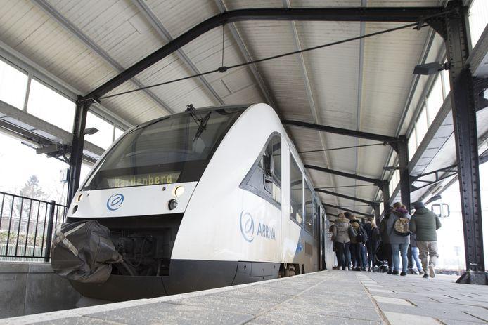 De trein van Almelo naar Hardenberg