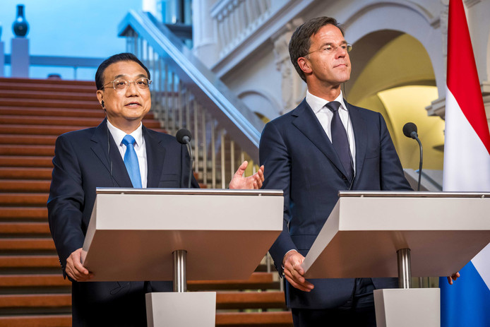 Premier Li Keqiang van China en premier Mark Rutte