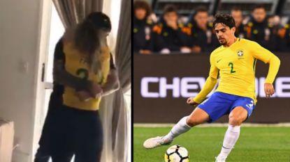 Het mooie moment waarop 28-jarige rechtsachter en zijn familie vernemen dat hij met Braziliaans sterrenensemble naar WK mag