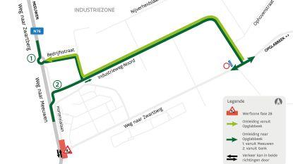 Weg naar Zwartberg vanaf maandag afgesloten