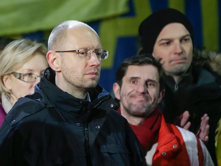 Premier Arseni Jatsenjoek. Beeld EPA