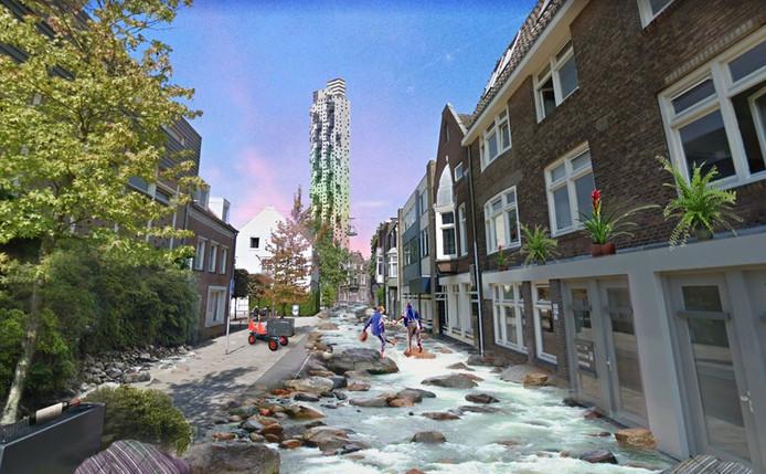 Rivier in de Nieuwlandstraat.