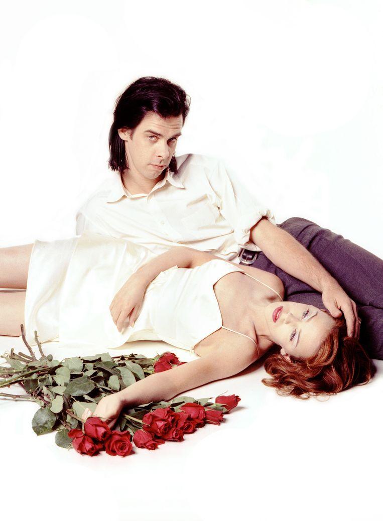 Nick Cave en Kylie Minogue, Juli 1995 Beeld Getty