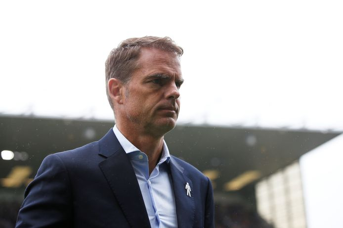 Frank de Boer als trainer bij zijn laatste club Crystal Palace.