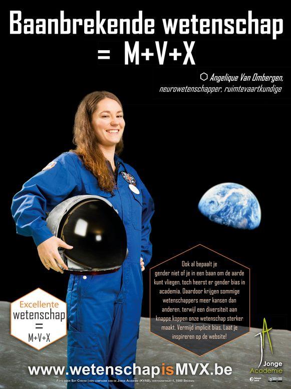 Of het nu als kankerimmunoloog, ruimtevaartkundige of rector is: natúúrlijk kunnen vrouwen het tot de top van de academische wereld schoppen, maar toch krijgen mannen vaak meer kansen. Dat is de boodschap van de campagne 'Wetenschap = m+v+x', gelanceerd door een groep jonge academici.
