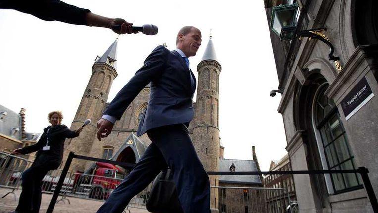 Diederik Samsom bij aankomst op het Binnenhof. Beeld anp