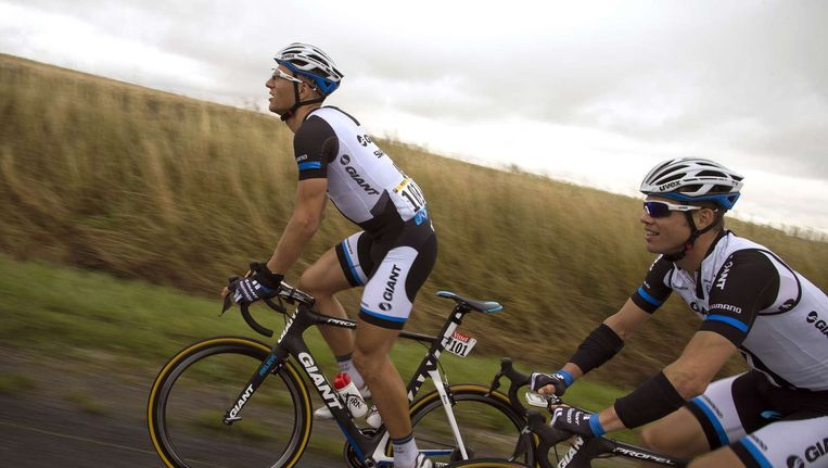 Marcel Kittel (links) tijdens de Tour de France. Beeld null