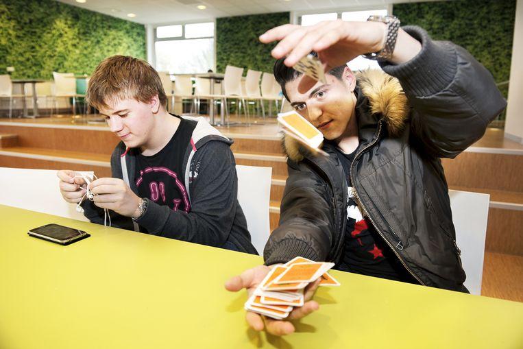 Leerlingen van het Albeda College in Rotterdam. Beeld Sanne De Wilde