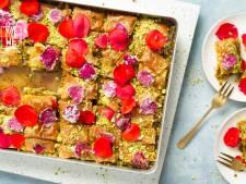 Wat Eten We Vandaag: Baklava met pistache en rozensiroop