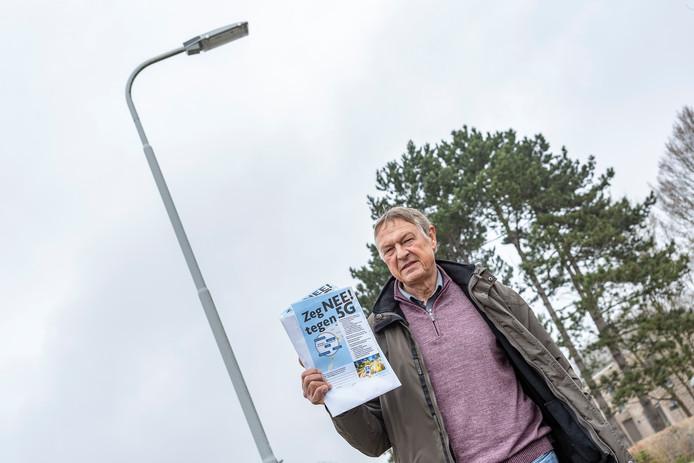 Op meerdere plekken in Nederland nemen de protesten tegen de komst van 5G toe, zoals hier in Zeeland.