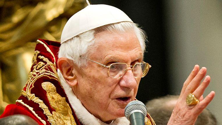 Paus Benedictus XVI. Beeld anp