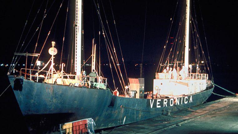 Het radio-zendschip Veronica . Beeld FOTO ANP.