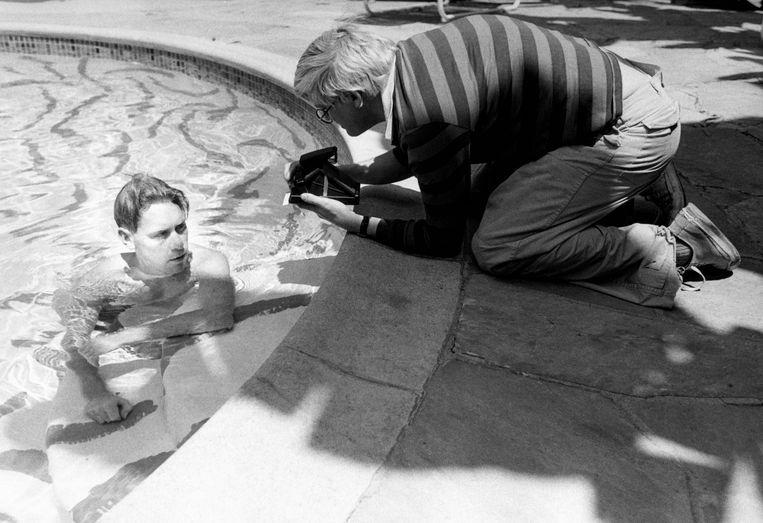 Vrienden van David worden doorgaans het subject van zijn foto's en schilderijen.  Beeld Corbis via Getty Images