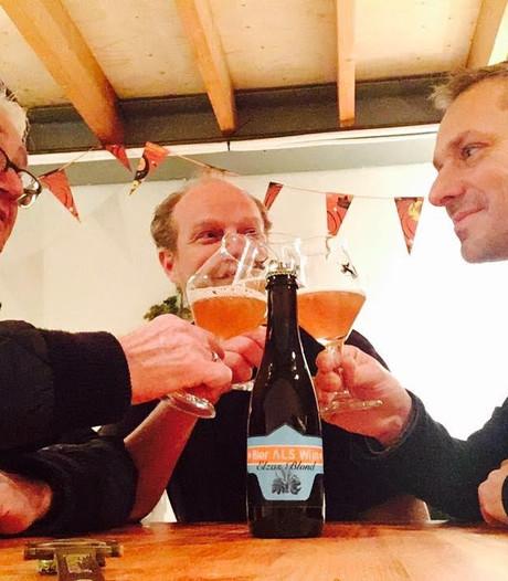 Bier ALS Wijn uit Den Bosch haalt 2.500 euro op voor Stichting ALS Nederland
