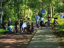 Brommerrijder gewond na botsing met fietser