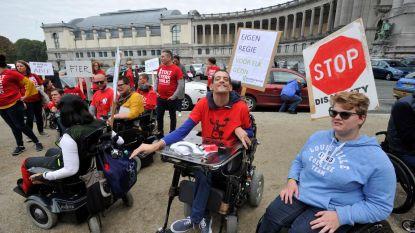 400 mensen met een handicap en hun begeleiders protesteren voor meer inclusie