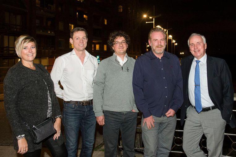 Ils Blommaerts, Mark Van Heel, Sven Cools, Peter De Ridder en Patrick Marnef. Enkele spilfiguren van de Boomse oppositie.