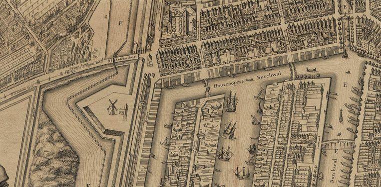 Uilenburg, Marken en Rapenburg in 1625 Beeld -