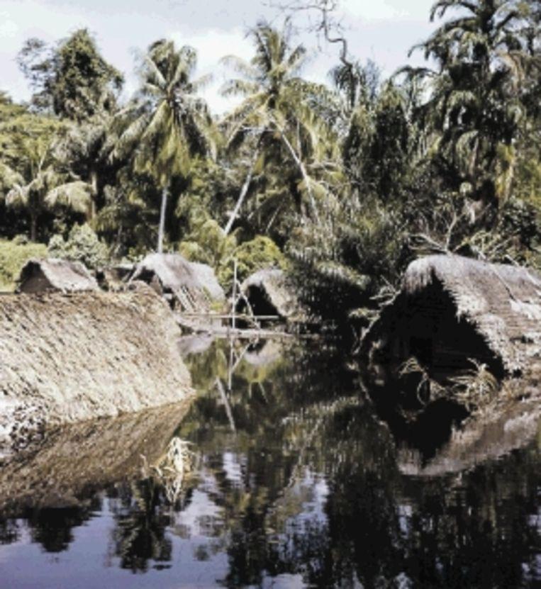 Sluiting van de stuwdam; Ganse en 26 andere dorpen sterven een langzame verdrinkingsdood (1965). (Trouw) Beeld