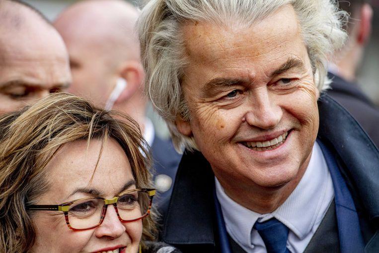 PVV-leider Geert Wilders hier op campagne.  Beeld ANP