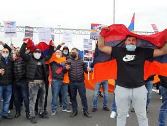 Armeense actievoerders blokkeren grensovergang E19 in Meer