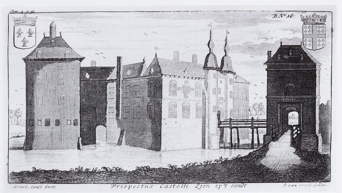 Prent van het Kasteel van Loon op Zand in 1770.
