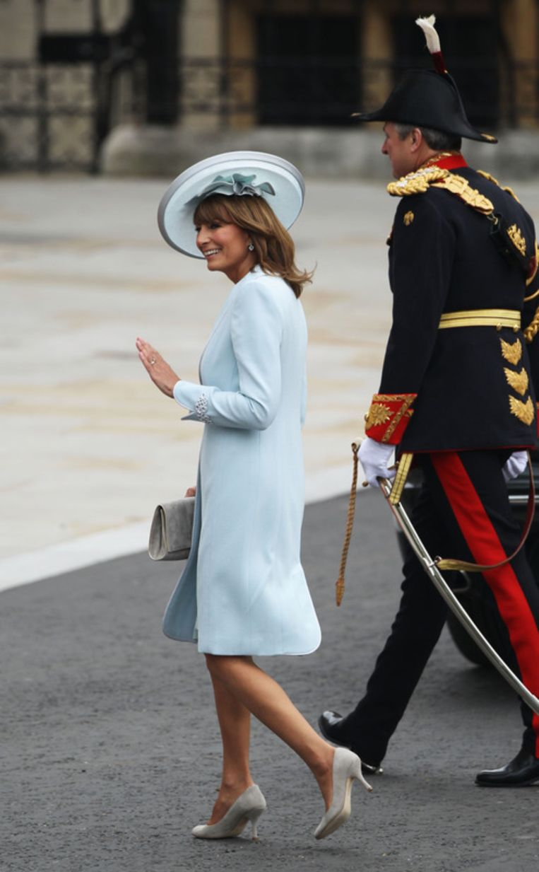 De moeder van Kate Middleton. Beeld getty