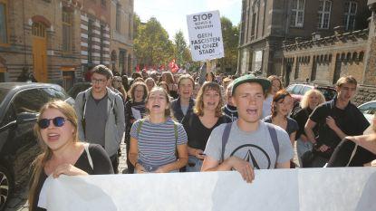 Geen les wegens betoging