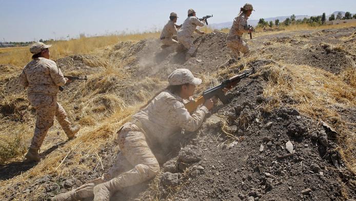 Koerdische strijders (peshmerga's)