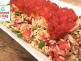 Sambalmakreel met rijstsalade