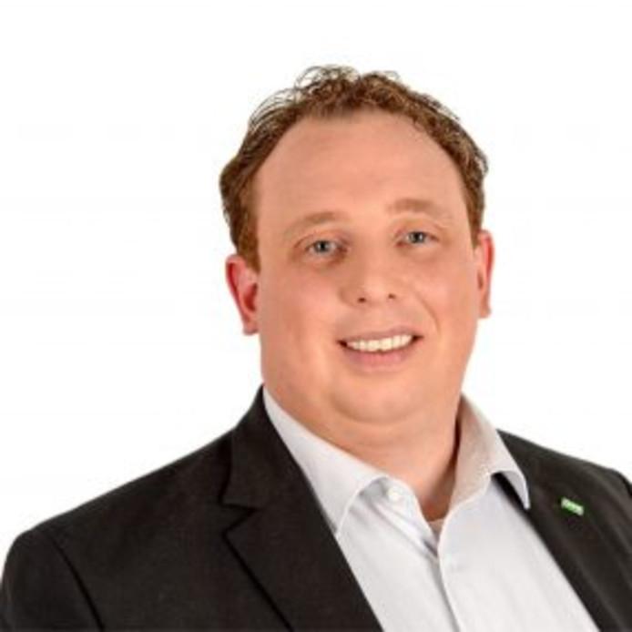 De Veenendaalse D66-fractievoorzitter Roy Dielemans.