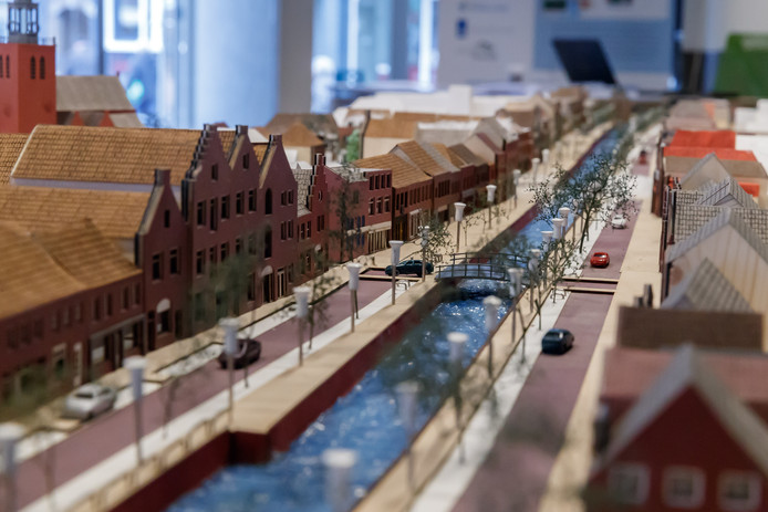 De stand van zaken bij de maquette van het nieuwe centrum van Zevenbergen.