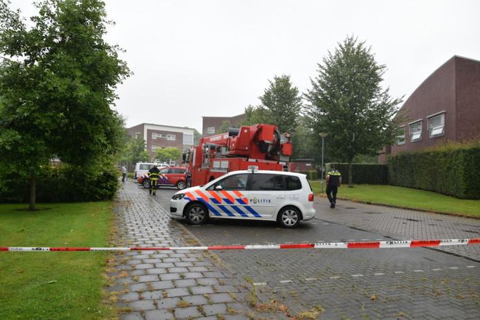 Brand in wooncomplex van Sovak in Zevenbergen.