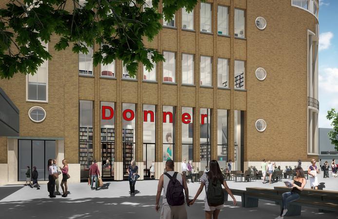 Donner blijft een voorname huurder van het ABN Amro-pand, onderdeel van Forum Rotterdam.