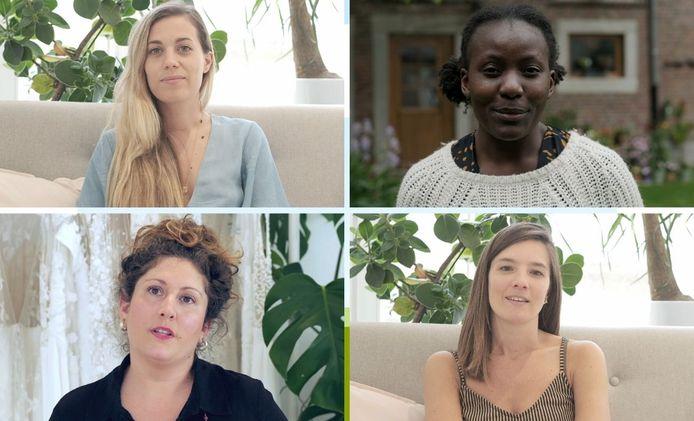 Elodie Wilmes, Cynthia Tolende Botuli, Malicia Goldflam, Elodie Deceunink.