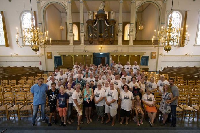 De hele familie Scholten verzamelde afgelopen weekend in Zwolle. Foto Freddy Schinkel