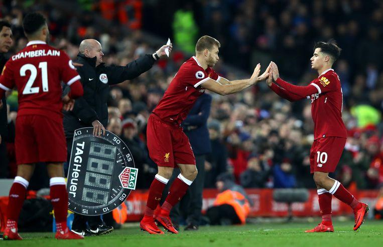 Het laatste beeld van Coutinho in Liverpool-shirt? Zijn wissel in de slotminuten van Liverpool - Leicester.