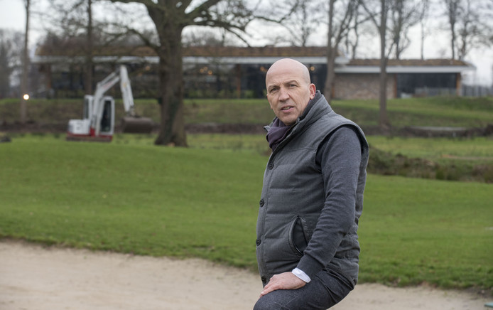 Frank Agterbos, op Golfbaan Weleveld.