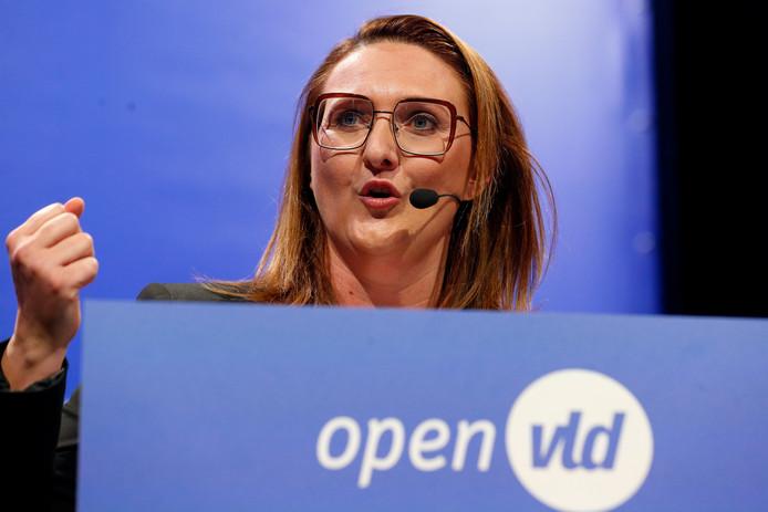 La présidente de l'Open VLD Gwendolyn Rutten.