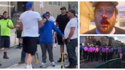 Spanningen tussen gewapende 'burgerwacht' en demonstranten in Philadelphia