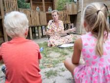 Tekenen voor een kinderboek in speelpark De Splinter in Eindhoven