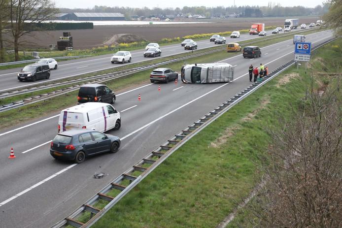 Ongeluk A50 bij Ravenstein