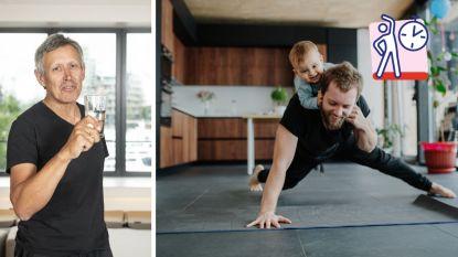 """""""In 3 weken een fit, sterk en lenig lichaam? Zorg ervoor dat je work-out compleet is"""": Lieven Maesschalck geeft je de beste oefeningen om thuis te doen"""