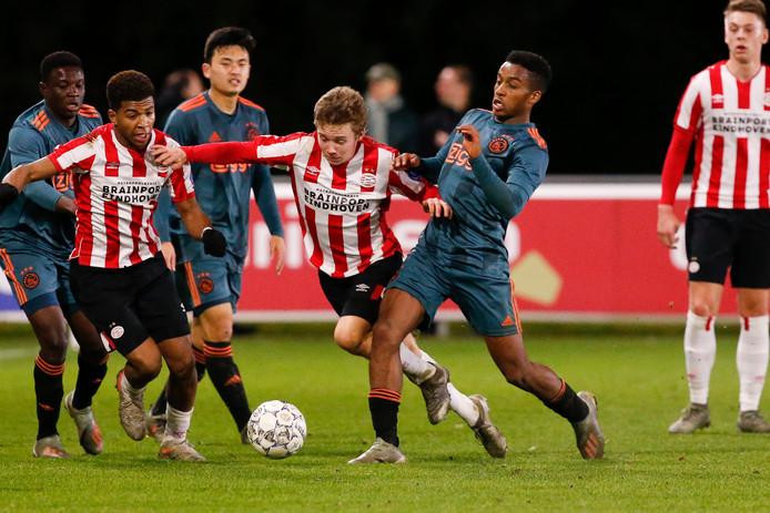 Shurandy Sambo en Mathias Kjolo van Jong PSV.