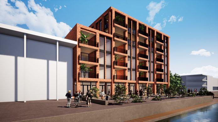 Zijaanzicht van het nieuwe complex dat in de plaats moet komen van restaurant en theater The Lux in Zeewolde. © Artists impression: Le Clercq Planontwikkeling & Vazet